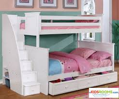 white bunk bed with stairs. Alternative Views: White Bunk Bed With Stairs R