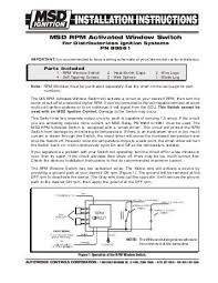 msd rpm activated window switch mps racing diy rpm activated switch at Msd Rpm Activated Switch Wiring Diagram