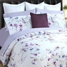 full image for super king duvet cover set in white background with purple blue flowers size