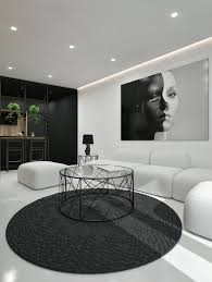 modern black white. Back And White Living Room Design By ID Modern Black