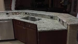 Dark Wood Kitchen Kitchen White Spring Granite With Dark Wood Kitchen Island And