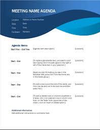 agenda meeting template word agendas office com