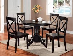 solid wood round dining table set saving small dining room spaces with 36 inch solid wood
