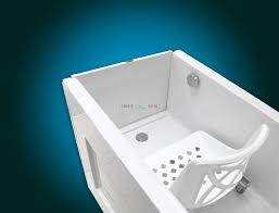 sensation plus assisted bath with movable seat or backrest chair inside view