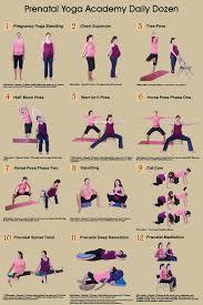 Yoga Pose Chart Poster Yoga During Pregnancy Prenatal Yoga Academy Daily Dozen