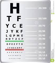 Eye Sight Test Chart Stock Illustration Illustration Of
