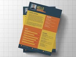 Colorful Resume Templates Custom Free Flat Colorful Resume Template For Job Seeker Free Resume