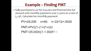 Calculate Loan Payment Formula Calculating A Loan Payment