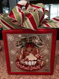 gingerbread lighted glass block this would be cute with the from glass block decoration ideas