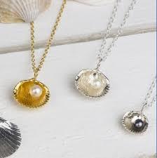 silver sea shell pendants