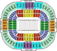 Carolina Panthers Seating Chart With Rows 57 Ageless Carolina Panthers Stadium Layout