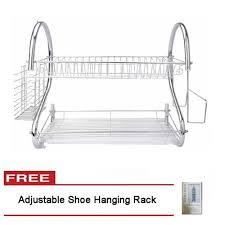 Hanging Dish Drainer Dish Drainer 2 Layer Free Adjustable Shoe Hanging Rack Lazada Ph