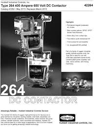hubbelldirect com products dc devices type 264 400 ampere 600 volt dc contactor