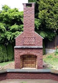 outdoor fireplace chimney height red brick to match house or rock to match old wall outdoor