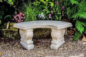 concrete garden bench stone garden