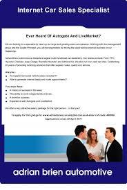 internet car sales specialist  st marys   adrian brien automotive    internet car sales specialist