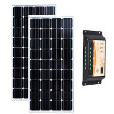 <b>Kit Panneau Solaire</b> 12v 150w <b>Solar</b> Charge Controller 12v/24v 20A ...