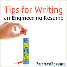 Engineering Resume Writing Tips New Tips For Writing A Resume