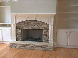 fireplace refacing over brick