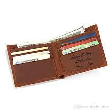 happy birthday surprise custom name men s wallet multi card genuine leather small wallet vintage men birthday gift purse 124649