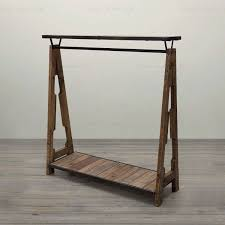 Special combination of retro clothing racks , wrought iron wood shelf  display rack clothing hangers Coat