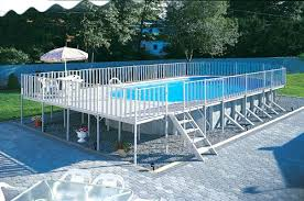 huge above ground pool a large design with deck s41