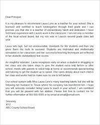 18 Letter Of Recommendation For Teacher Samples Pdf Doc Sample