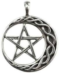 wear this amulet of a braided crescent moon and interwoven penram to find strength and