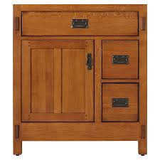 American Craftsman Vanity For Undermount Sink Rustic Oak - Oak bathroom vanity cabinets