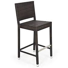 T Best Choice Products Outdoor Wicker Barstool All Weather Brown Patio  Furniture New Bar Stools