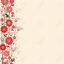 Flower Edge Design Vector Fond Background With Decorative Flowers On The Edge