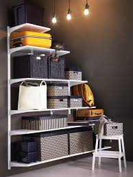 basement storage ideas ikea algot white wall mounted storage solution