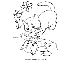 Small Picture Coloring Pages Cat Mother With Kitten Coloring Page Free Coloring