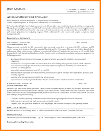 Accounts Receivable Sample Resume Sample Resume For Accounts