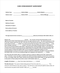 consignment form for cars sample consignment agreement form 8 free documents in pdf