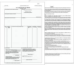 Origin Resumes Blank Certificate Of Origin Form Editable Printable Template Resume