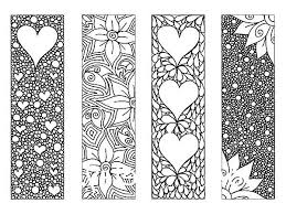 Bookmark Coloring Pages Bookmarks Full Of Flower Bookmarks Coloring Pages Free