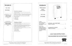 danby spac5088 air conditioner user manual