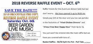 Raffle Event Brookville Volunteer Fire Dept Reverse Raffle Event Eagle Country