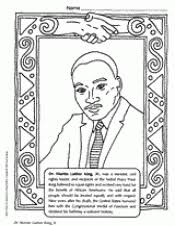 Small Picture Martin Luther King Jr Coloring Page Black History Month Printable