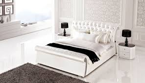 Bedroom-design : AE B6275 White Leather Bedroom Set King And Queen ...