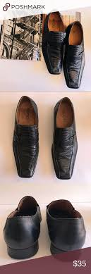Aldo Mens Dress Shoes Black Shoe With Snakeskin Pattern