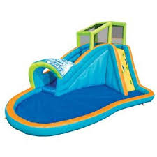 pool water splash. Image Is Loading Banzai-Inflatable-Kids-Pipeline-Water-Slide-and-Outdoor- Pool Water Splash