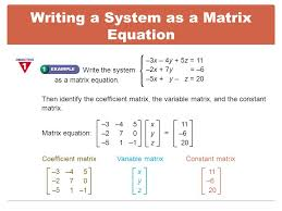 how to solve a system of equations using matrices jennarocca