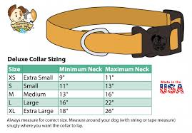 Small Dog Collar Size Chart Deluxe Fall Foliage Dog Collar