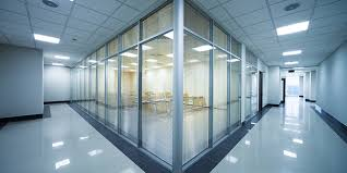 office glass windows. Noise Proof Laminated Glass Office Windows