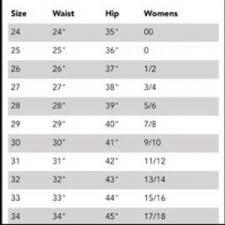 Dkny Size Chart Women S 16 Reasonable Dkny Womens Jeans Size Chart