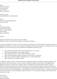 Sample Cover Letters For Employment Applications Architecture Job