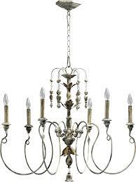 chandeliers 6 light chandelier quorum white holman bronze