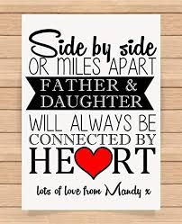 personalised a4 size print gift for dad birthday fathers day gift father and daughter unique gift